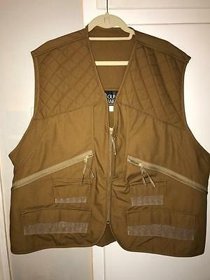 Mens Hunting Vest XXL 2XL Mount'n Prairie Game Bird Pocket New Vintage NOS Brown