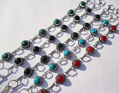 Gorgeous Bracelets Jewelry Mix Gemstone 5Pcs Lot 925 Sterling Silver Overlay
