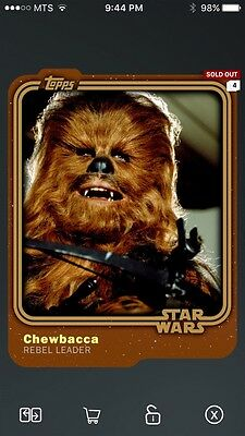 Topps Star Wars Digital Card Trader Smuggler's Den Chewbacca Base Variant