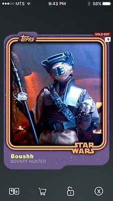 Topps Star Wars Digital Card Trader Smuggler's Den Boushh Base Variant