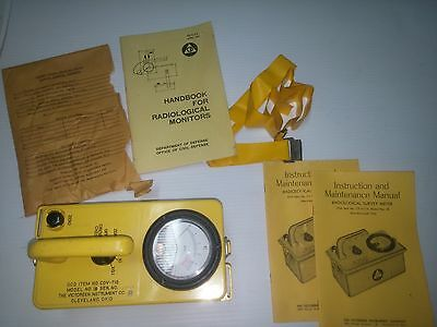 Victoreen Instrument Co. RADIATION SURVEY METER Geiger Counter CDV-715R Model 1B