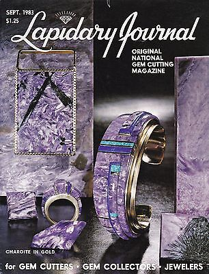Lapidary Journal September 1983 - for Gem Cutters, Gem Collectors, Jewelers