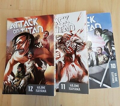Attack on Titan manga (english) - Volumes 10, 11 and 12