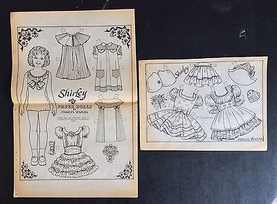 Child Star Shirley Temple Paper Dolls by Charles Ventura, Uncut 1983 Mag. PD