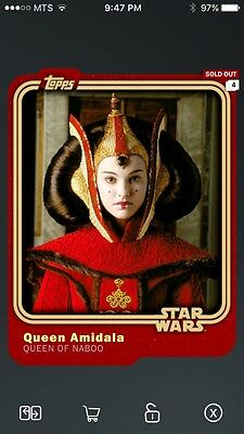 Topps Star Wars Digital Card Trader Smuggler's Den Queen Amidala Base Variant