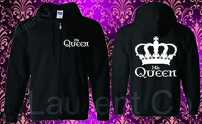 Couple Matching Love Hooded Sweatshirt Her King And His Queen His Hers Hoodie