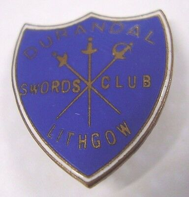 Vintage Durandal Swords Club Lithgow Member Badge Pin Millers Sydney