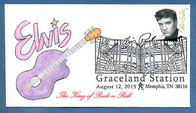 Greytcovers Elvis Presely Music Icon Stamp #5009 Fdoi Cover Graceland Station