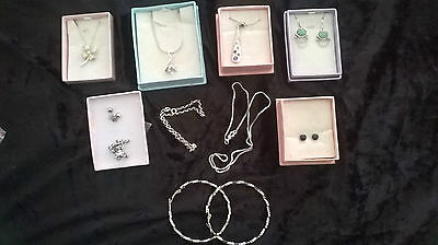Bulk Lot - SILVER JEWELLERY - mostly .925 - Plus 2 FREE GIFTS!