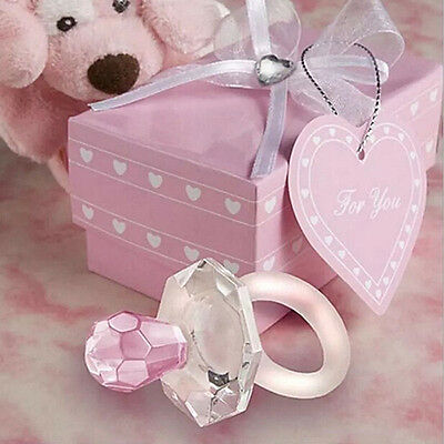 Crystal Pacifier Girl Baby Shower Party Christening Gift Wedding Favors Cheaply
