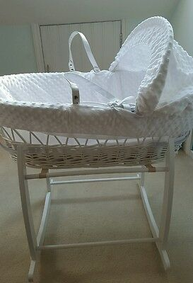 Claire de Lune Moses Basket with Rocking Stand and Mattress