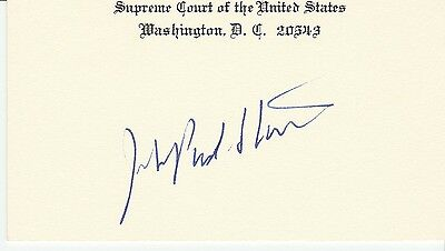 Supreme Court Justice John Paul Stevens Signed Supreme Court  Card with COA