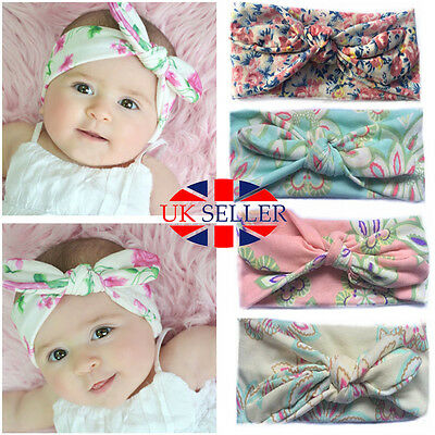Newborn Headband Ribbon Elastic Baby Headdress Kids Hair Band Girl Bow Knot 4pcs