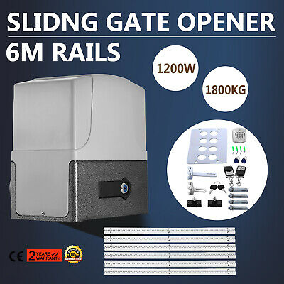 Sliding Gate Opener Door Operator 1800kg 6M Rail Automatic Motor Accessories Kit