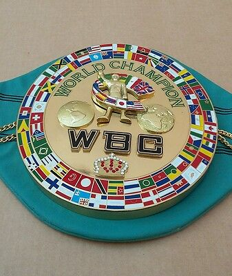 WBC Championship boxing belt Replica 3D center plate adult