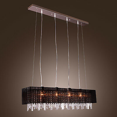 Ceiling Pendant Lamp Crystal Chandelier Light Lighting Living Dinning Restaurant