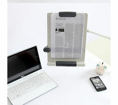 [Sale] Desk Mount Flexible Arm Copy holder Book Document Paper Reading Stand