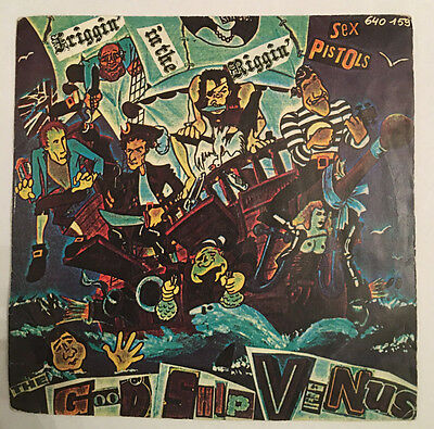 "Sex Pistols Something Else French 7"" 640159 Pic Sleeve 1979 Rare"