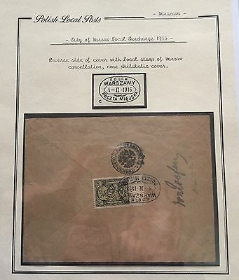 Poland Polish Local Posts 1915 Cover For Description Look At The Picture Spl Rrr