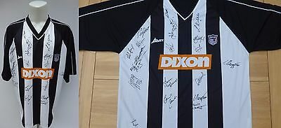 2001-02 Grimsby Town Home Shirt Signed by Squad (10088)