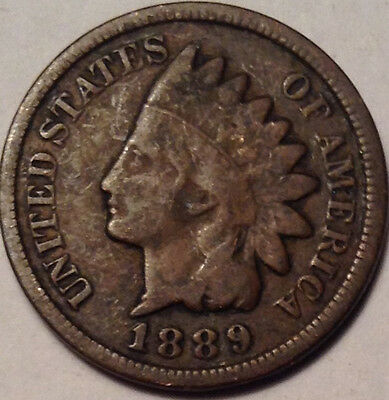 1889 Usa Indian Head Small Penny Condition Not Bad !