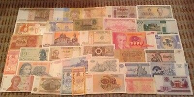 Collection Of 33 X World Banknotes. All Different Lot.