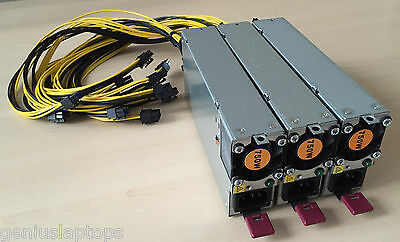 Power Supply kit for Antminer S9 or S7 Bitcoin Miner 2250W 92% Gold PCI-E PSU