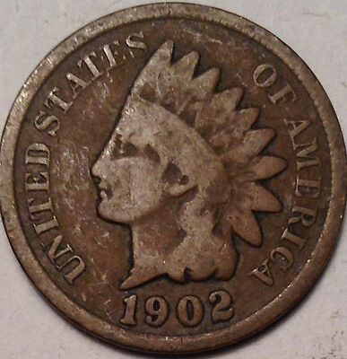 1902 Usa Indian Head Small Penny !!