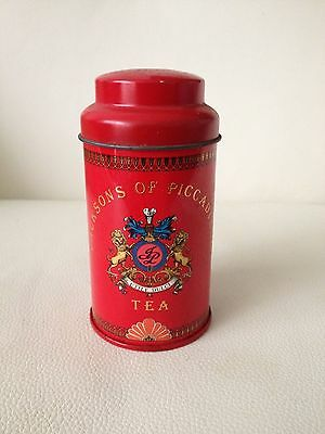 Jacksons of Piccadilly Small Red Tea Tin Caddy