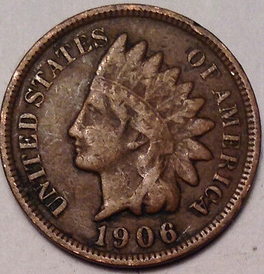 1906 Usa Indian Head Small Penny Condition Not Bad !