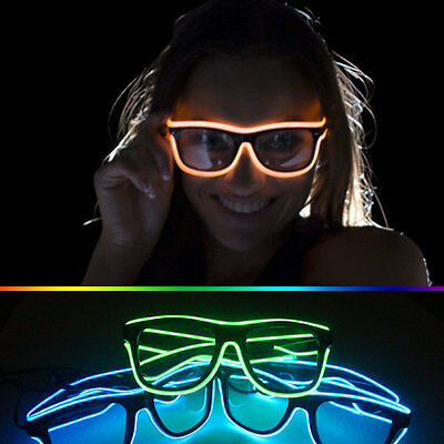 LED Light Up Gläser Shaped Glasses Partybrille Leuchtbrille Controller Party