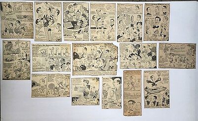 "GOLF LOT OF ""WELLS"" ORIGINAL CARTOONIST NEWSPAPER 1950's CUT OUTS"