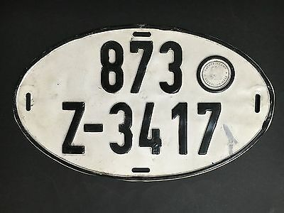 CAR NUMBER PLATE 1960's FROM GERMANY