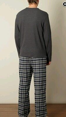 Men'cheap maine cotton loungewear grey  pajama's size large