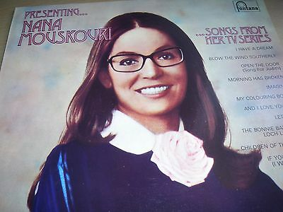 Presenting...Nana Mouskouri...Songs From Her TV Series LP Fontana 6312 036