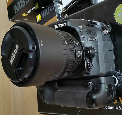 Nikon D D7100 24.1 MP SLR-Digitalkamera - Schwarz (Kit m/ AF-S DX 18-105mm...