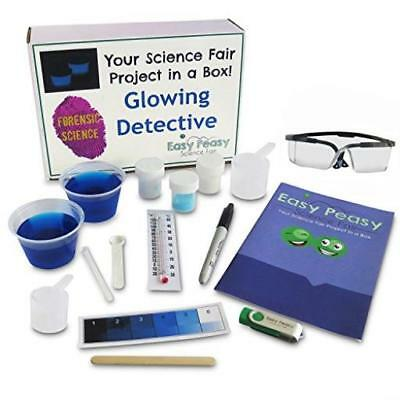 Easy Peasy Science Fair Project Kit Glowing Detective Top Forensic Science Learn