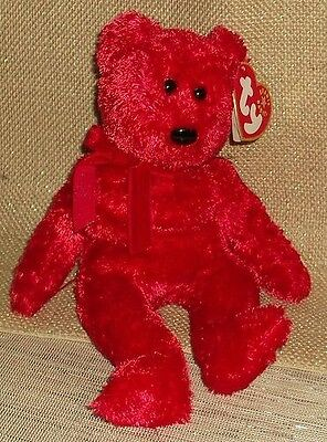 """Ty Beanie Bear - (Retired) - """"sizzle"""" - With Tags"""