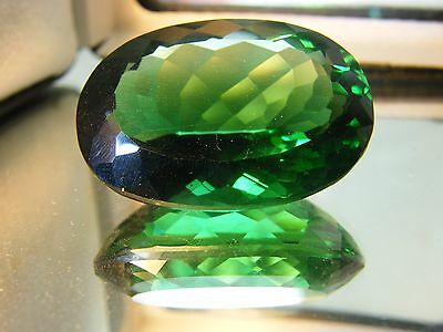 80 Cts Lab Created Cultured Green Tourmaline  Huge Oval Shaped