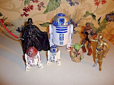 Lot Of 7 Star Wars Character Figures