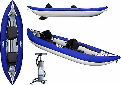 NEW 2017 Aquaglide Chinook XP2 Two Person 2 Seater Inflatable Kayak + PUMP + FIN