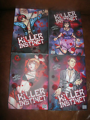 Killer instinct tome 1 à 4, comme neuf.