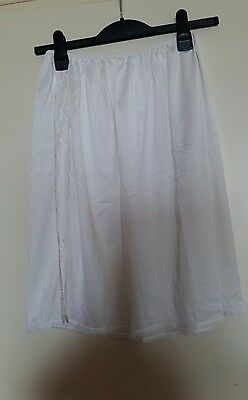Vintage White Split Knee Nylon Petticoat