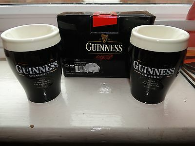 New Boxed Ceramic Guinness Egg Cup Set - Guinness Collectable