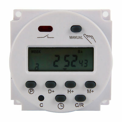 16A AC Digital Time Switch Electronic Timer LCD Power Relay Programmable BI118