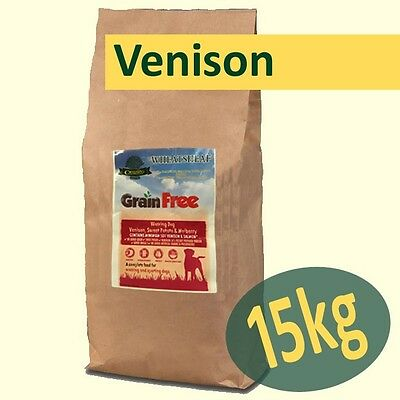 15kg *Grain Free* VENISON with SALMON, SWEET POTATO & MULBERRY Working Dog Food