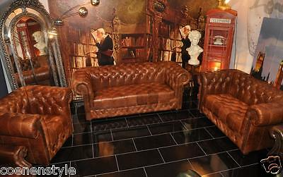 Chesterfield Heritage De Luxe geknöpft Pull Up Aniline Vintage  Chestnut E1000