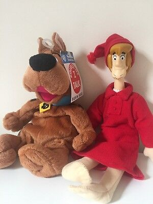 Scooby Doo And Shaggy Plush Figure Toys Bedtime Shaggy, Scooby Talks Warner Bros