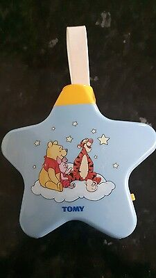 Tomy blue lullaby night light star show