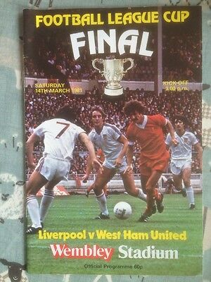 1981 League Cup Final Liverpool V West Ham United